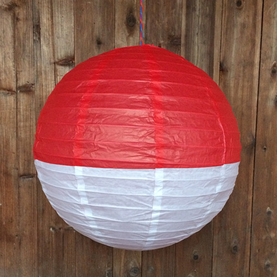 Half color paper lanterns