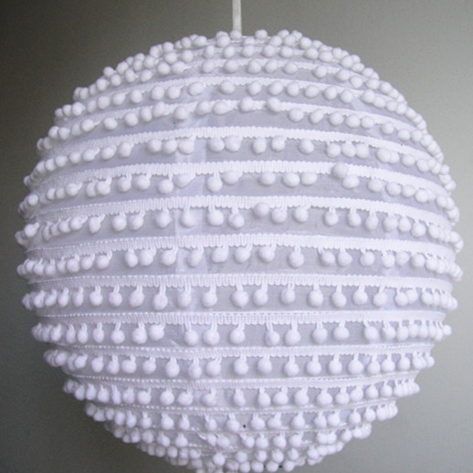 Hanging Pearl Fabric Lanterns