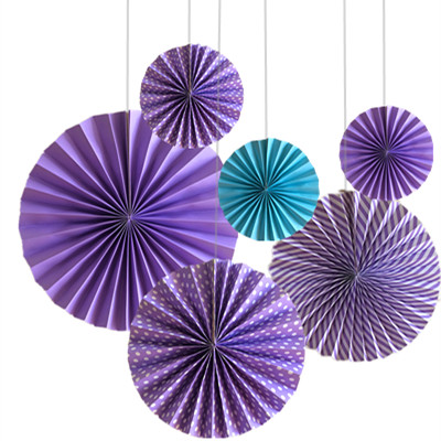 Hanging Paper Fan set