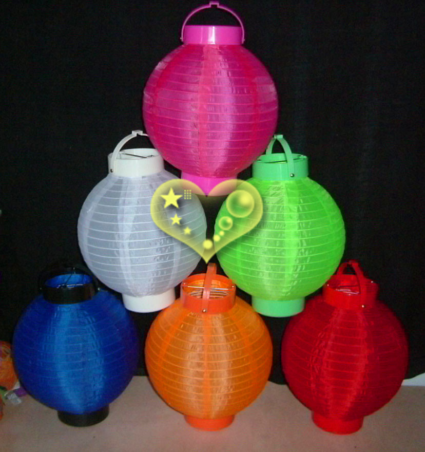 Led Battery Nylon Lanterns