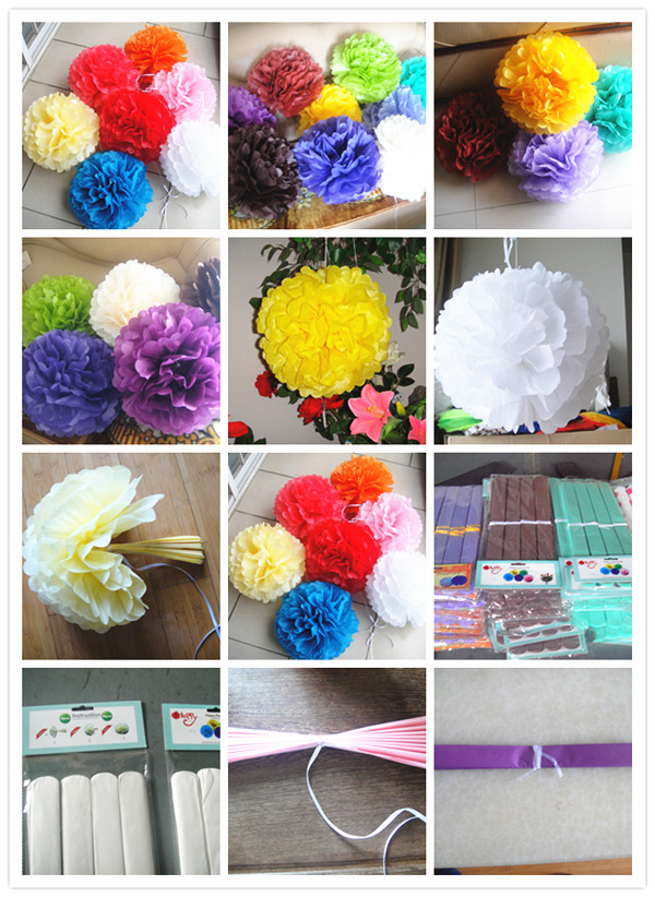 "18"" Tissue Paper PomPoms Ball"