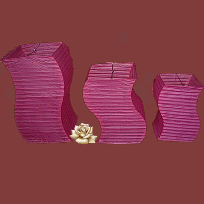 S shape paper lantern wholesale