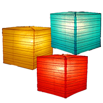 Square Bamboo Ribs paper lantern