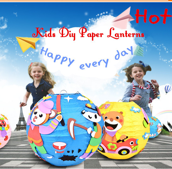 "8"" Kids diy paper lanterns"