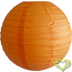 18 Inch Even Ribbing Orange Paper Lanterns