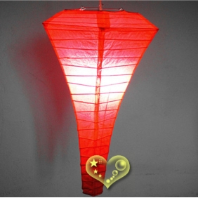 Red Conical Paper Lanterns