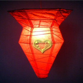 Red Polygon paper Lanterns