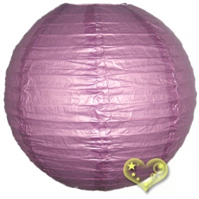 10 Inch Even Ribbing Plum Paper Lanterns