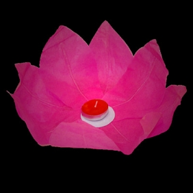 Rose Pink Paper Lotus Floating Water Lantern
