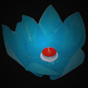 Turquoise Paper Lotus Floating Water Lantern