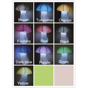 wholesale Small Dot Mushroom Paper Lanterns(100 of case)