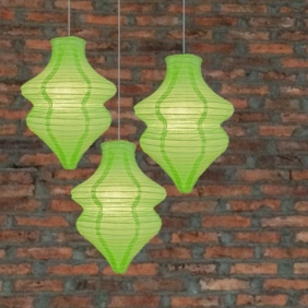 Light Lime Beehive Paper Lantern-3 pack