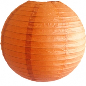 10 Inch Even Ribbing BUTTERSCOTCH  Paper Lanterns