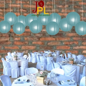 10 Inch Even Ribbing Slate Blue Paper Lanterns
