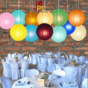18 Inch  12 Assorted Color-paper-lanterns-12PCS