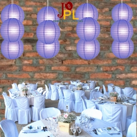 10 Inch Even Ribbing Blueberry Paper Lanterns