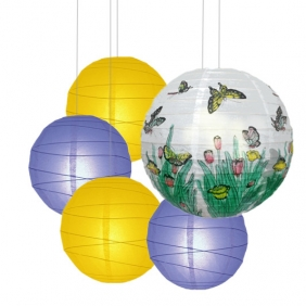 40 x 5per-set Butterfly Assorted Paper Lanterns