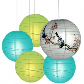 40 x 5per-set Birde Assorted Paper Lanterns
