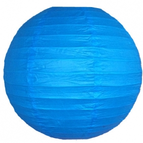 10 Inch Even Ribbing Blue Paper Lanterns