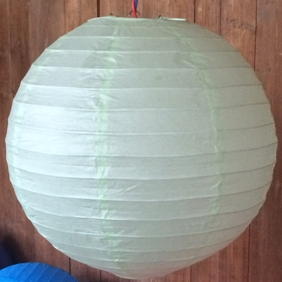 20 Inch Even Ribbing Light Mint Paper Lanterns