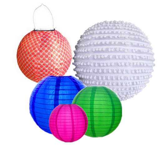 Silk w Nylon lanterns wholesale