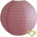 3.5 Inch Even Ribbing Pink Paper Lanterns(10 of pack)