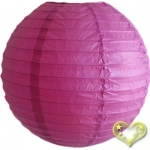 20 Inch Even Ribbing Violet Paper Lanterns