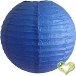 3.5 Inch Even Ribbing Dark Blue Paper Lanterns(10 of pack)