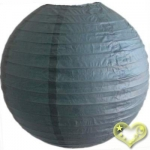 3.5 Inch Even Ribbing Slate Blue Paper Lanterns(10 of pack)