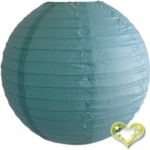 16 Inch Even Ribbing Water Blue Paper Lanterns