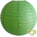 12 Inch Even Ribbing Grass Green Paper Lanterns
