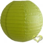10 Inch Even Ribbing Chartreuse Paper Lanterns