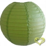 14 Inch Even Ribbing Light Lime Paper Lanterns