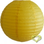 12 Inch Even Ribbing Yellow Paper Lanterns