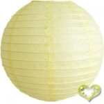 14 Inch Even Ribbing Light Yellow Paper Lanterns