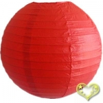 12 Inch Even Ribbing Red Paper Lanterns