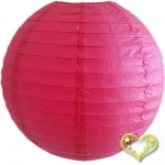 12 Inch Even Ribbing Fuchsia Paper Lanterns