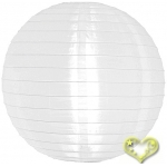 "8"" Even Ribbing White Nylon Lantern(12 pieces)"