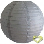 14 Inch Even Ribbing Dove Paper Lanterns