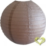 14 Inch Even Ribbing Latte Paper Lanterns