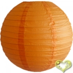 16 Inch Even Ribbing Orange Paper Lanterns