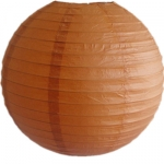 8 Inch Even Ribbing Burnt-Orange Paper Lanterns