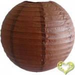 12 Inch Even Ribbing Brown Paper Lanterns