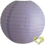 14 Inch Even Ribbing Lavender Paper Lanterns