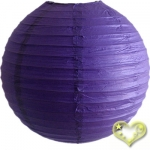 16 Inch Even Ribbing Purple Paper Lanterns