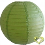 16 Inch Even Ribbing Light Lime Paper Lanterns