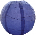 "8"" Inch Uneven Ribbing Blueberry Paper Lantern"