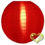 "8"" Even Ribbing Red Nylon Lantern(12 pieces)"