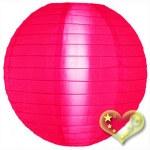 "8"" Even Ribbing Hot Pink Nylon Lantern(12 pieces)"