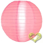 "16"" Even Ribbing Pink Nylon Lantern(12 pieces)"